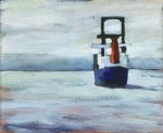 "#6- English Bay Freighter (12"" x 14"")"